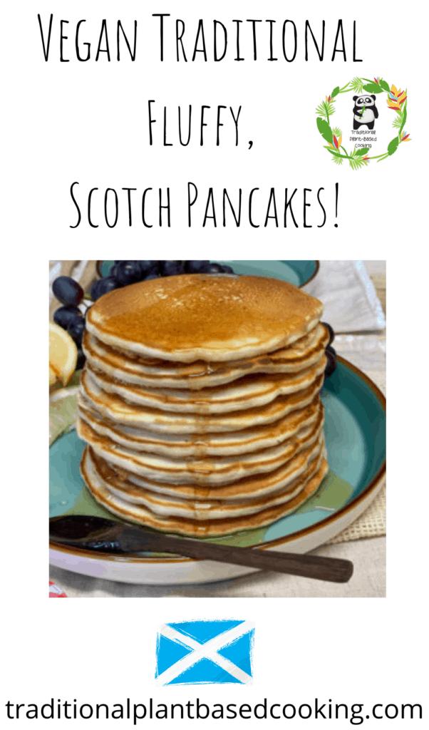 vegan traditional Scotch pancakes pin