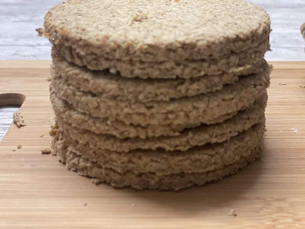 vegan Scottish oatcakes ready and baked.