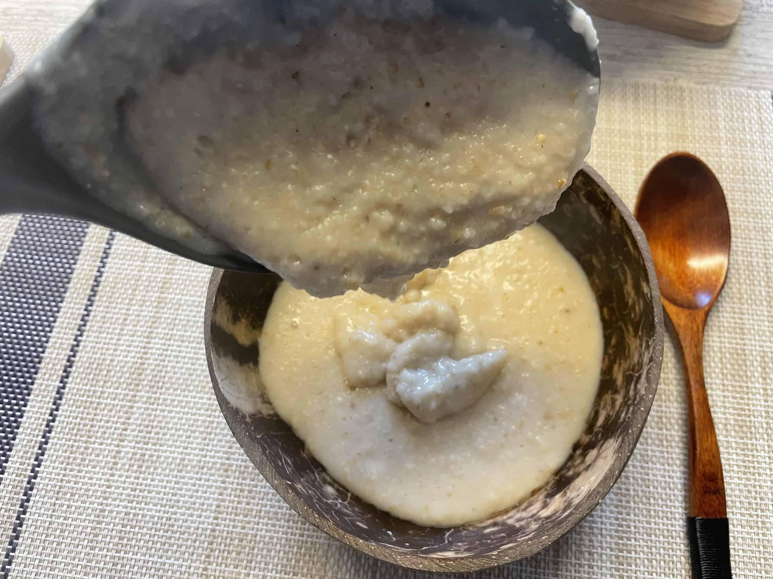 best bowl of rustic Scottish oatmeal porridge