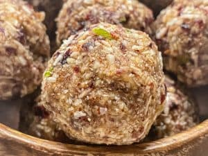 Vegan Cranberry, coconut and lime energy balls