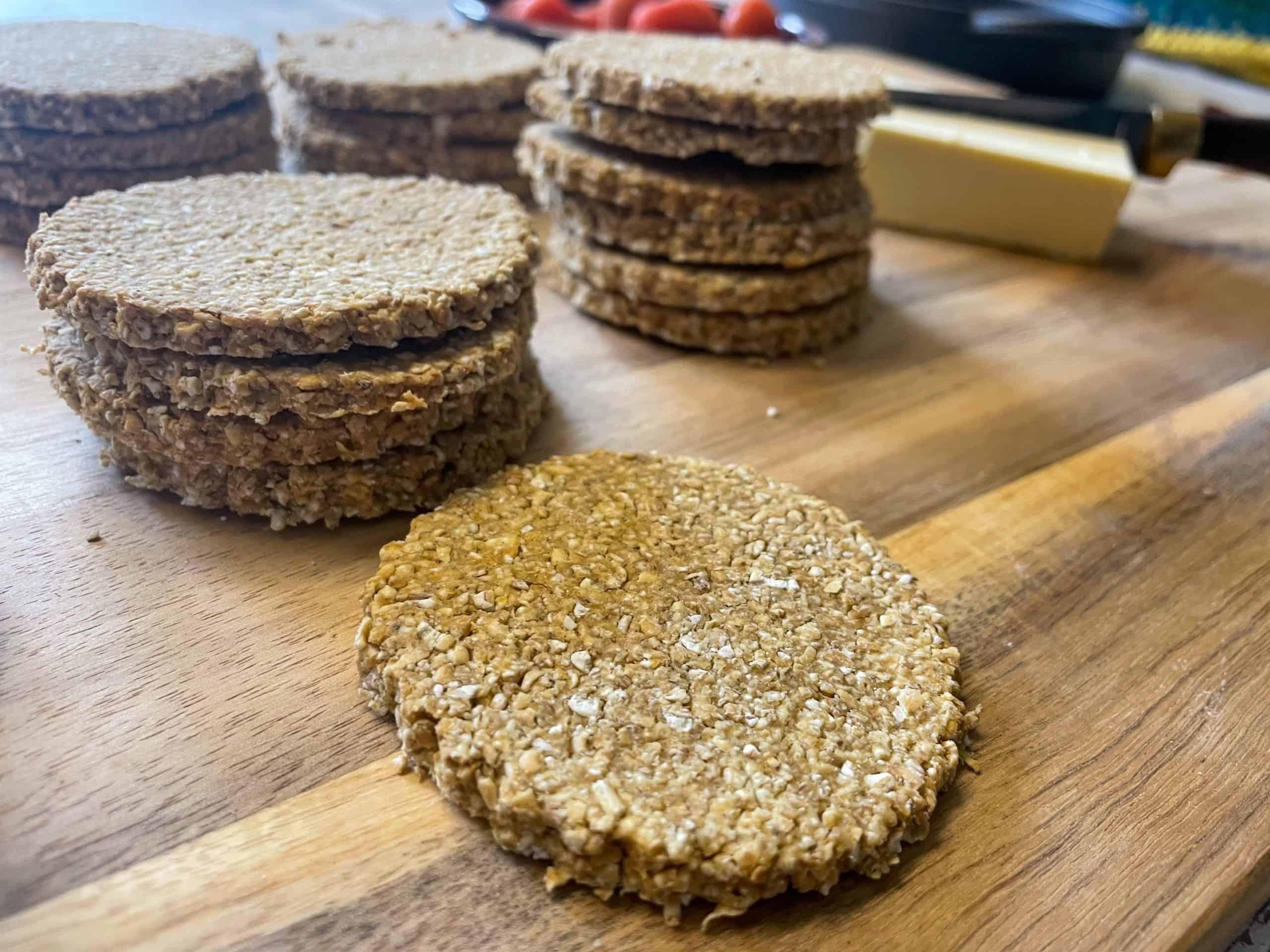 vegan cheesy oil-free Scottish oatcakes