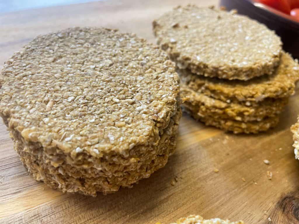 vegan Scottish oil-free oatcakes