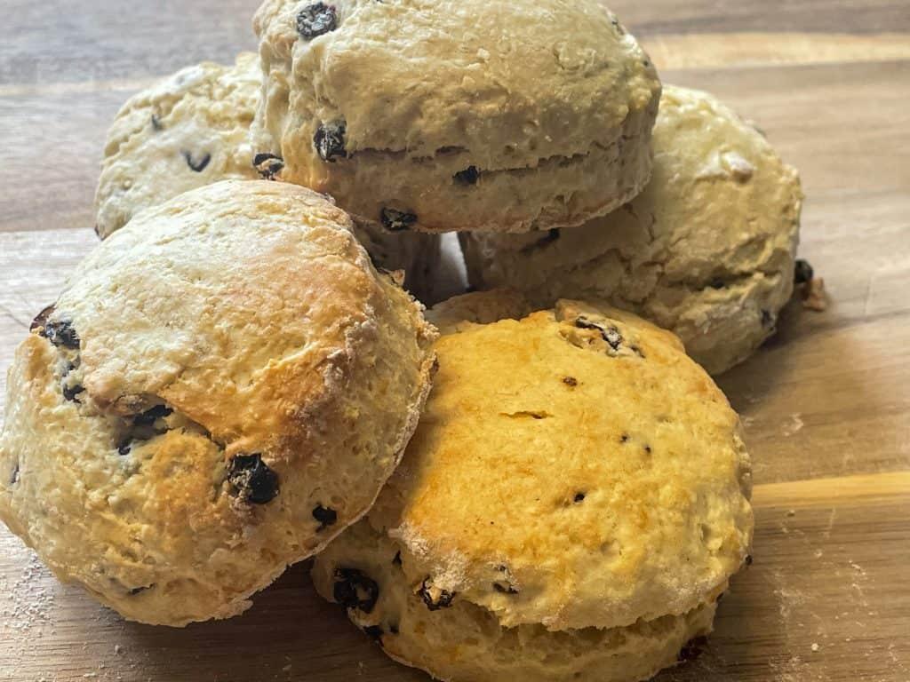 vegan Edinburgh fruit scones