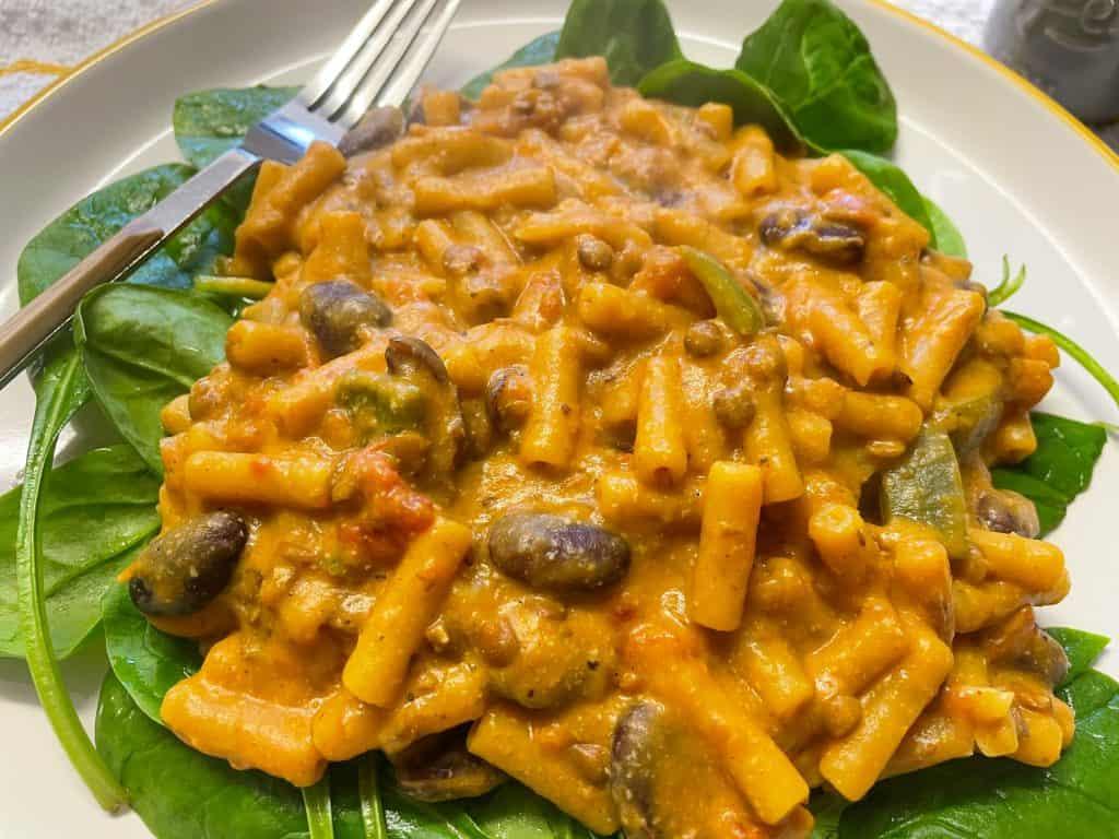 quick vegan chilli mac