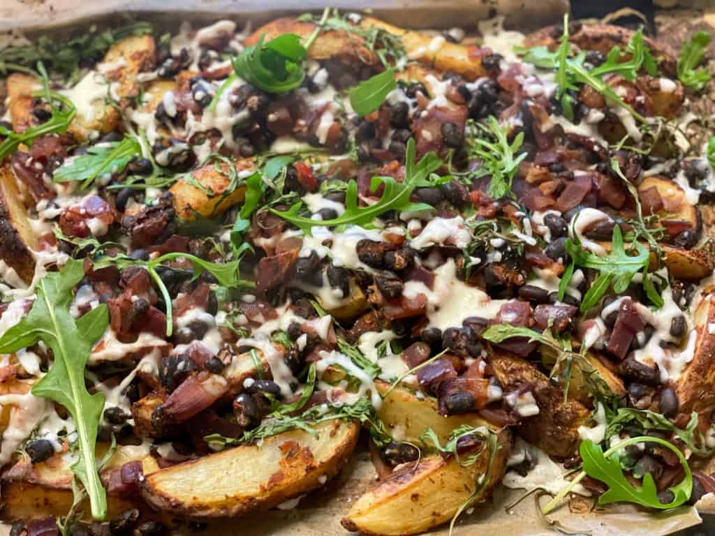 loaded black bean potatoes
