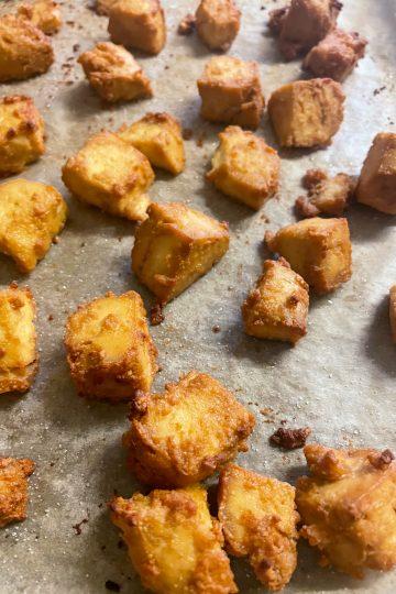 vegan crispy tofu bites