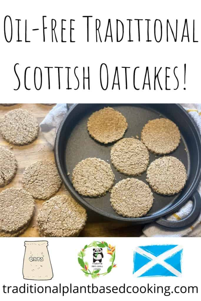 oil-free Scottish oatcakes pin