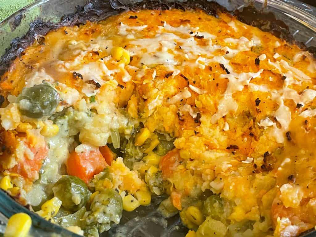 Vegan vegetable hotpot