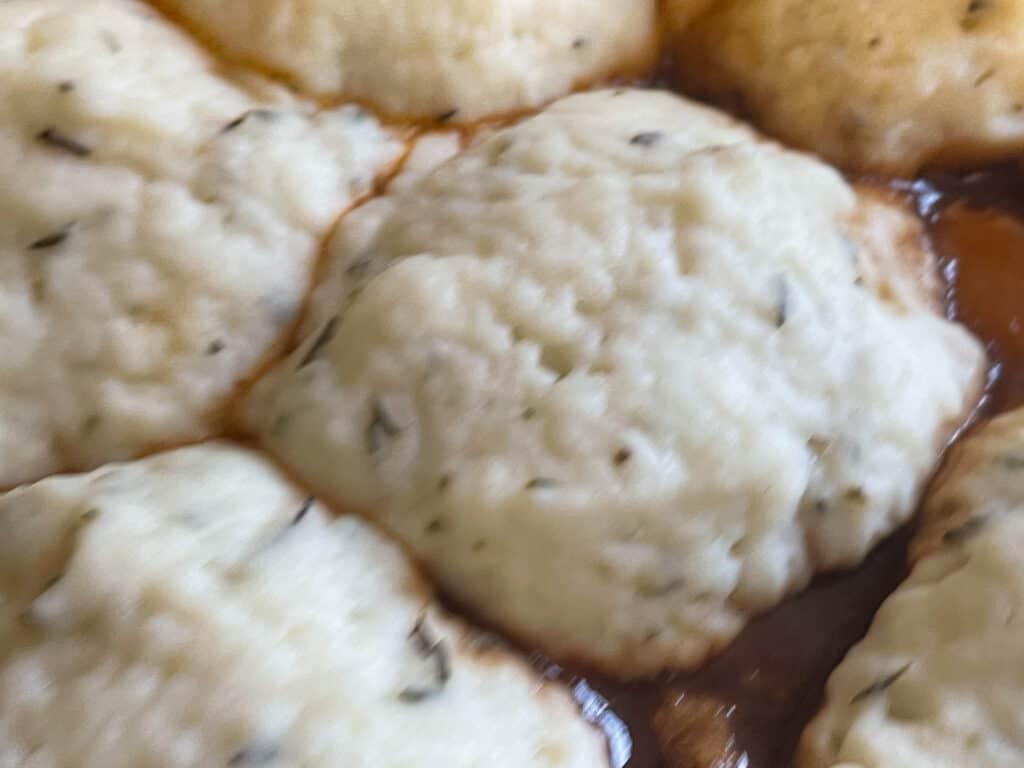 dumplings rising and cooking