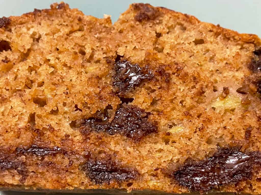 vegan chocolate chip banana bread