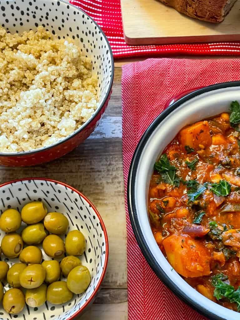 plant-based Spanish chickpea stew