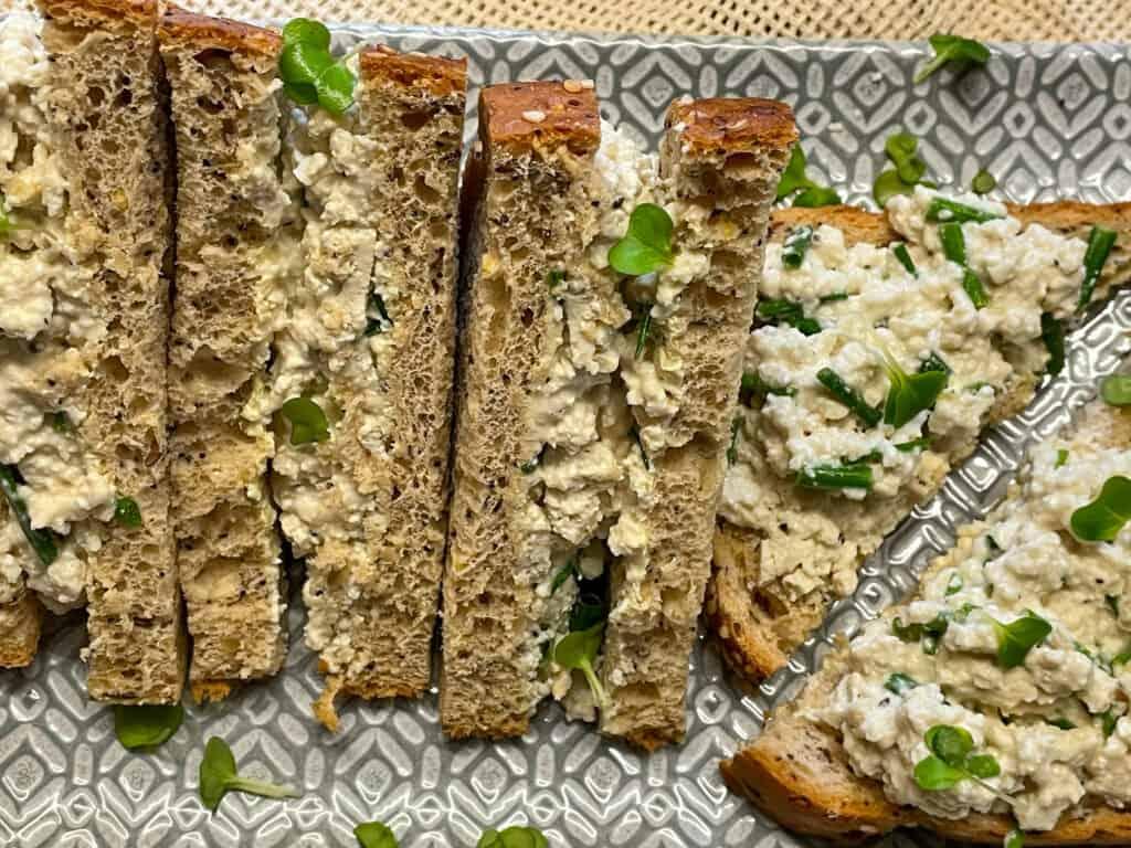 tofu mayonnaise sandwich vegan