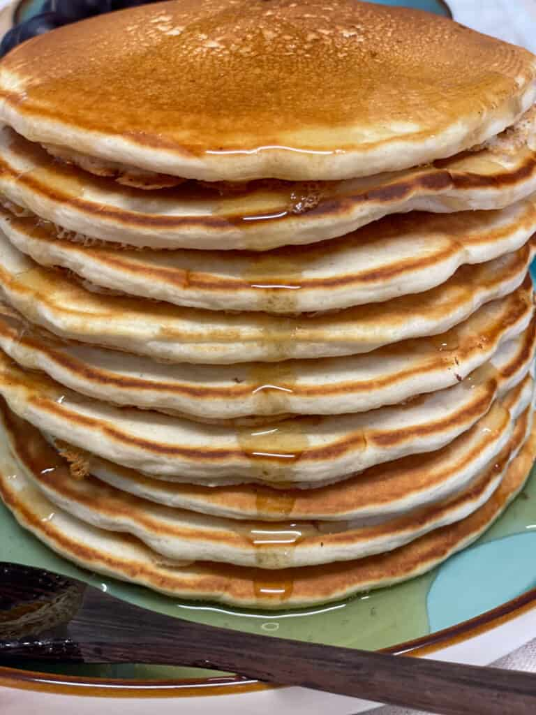 vegan fluffy traditional pancakes