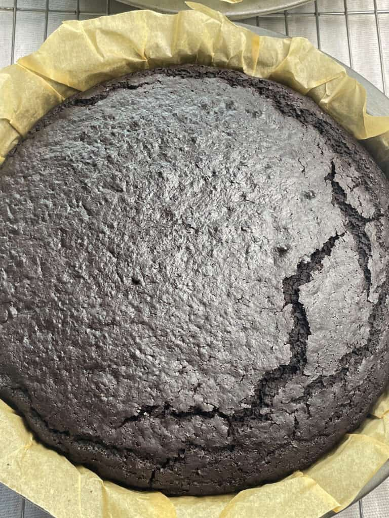 cake baked and out oven