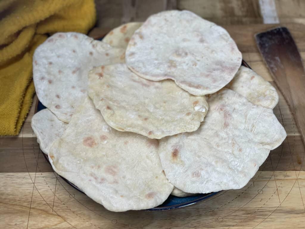 vegan 3 ingredient flatbread