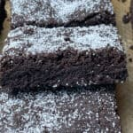chocolate concrete cake close up.